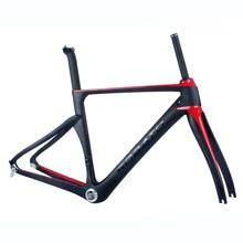 Super light road bike frame carbon road frame carbon fiber road bike frame many color can be choosed free shipping DIY bike