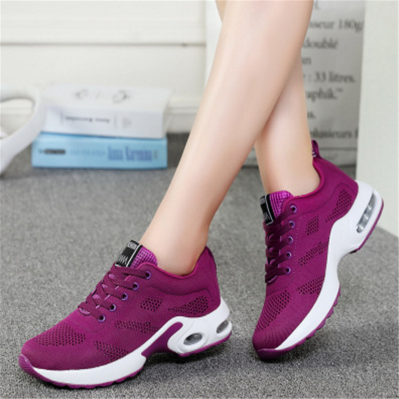 2018 women casual shoes four seasons Leather net woman fashion Cushion cushion Air damping shoes zapatos mujer tenis feminino new european top grade embroidery cushion sell like hot cakes four seasons pleuche gm direct manufacturers in the cushion