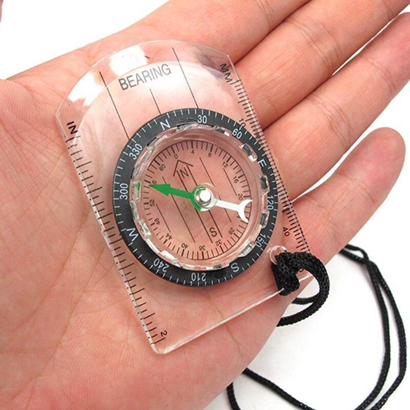 Открытый Кемпинг Туризм прозрачный пластиковый компас пропорциональный следа Путешествия Военный компас инструменты дорожные наборы