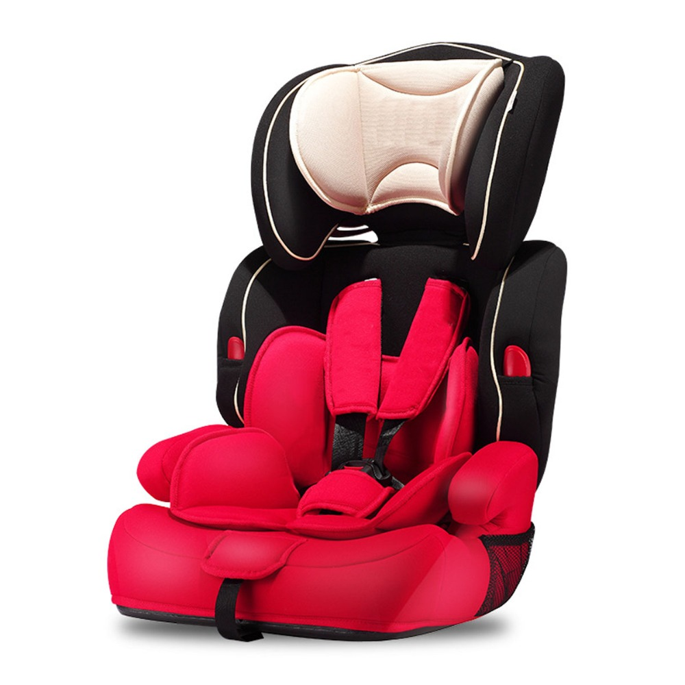 9 Months-12 Years Adjustable Child Car Safety Seats Children Cotton Red Black Comfortable Infant Baby Practical Cushion For Kids beibei cassie lb 363 car seats between 0 and 4 years old