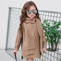 New fashion girl knit sweater sleeve warm winter long sleeve shirt girl