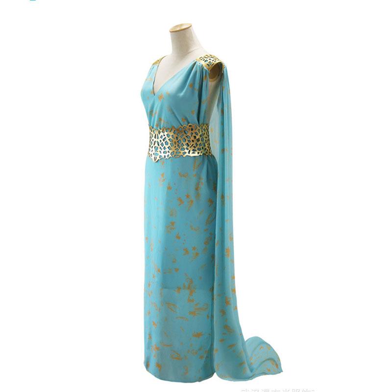 Game of Thrones Cosplay Costume Daenerys Targaryen Vestito Da ... 7e21db7d6ca