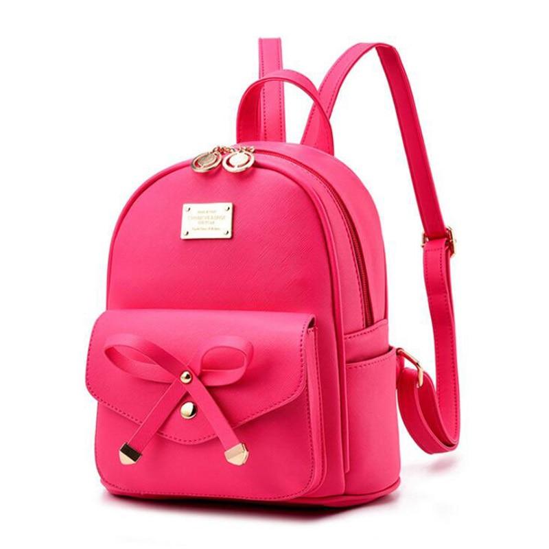Image 5 - FGJLLOGJGSO Fashion Women Bag School Lady Backpack PU Leather small Student Shoulder Casual Female Backpacks Softback Bags SacBackpacks   -