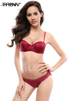 2016 New Arrival Half Cup Underwire Solid Embroidery Sexy Women S Underwear Lingerie Brassiere Bra Sets