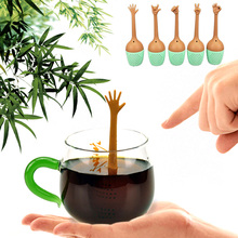 5 Kinds Hand Gestures Tea Filter Silicone Tea Infuser Coffee
