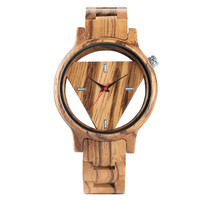 YISUYA Unique Design Triangle Dial Full Wood Watch Men Handmade Bamboo Wooden Creative Watches Analog Mens