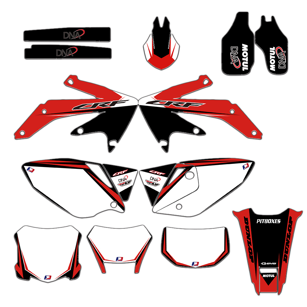 MOTORCYCLE GRAPHICS BACKGROUNDS DECALS STICKERS For Honda CRF450X CRF 450X 450 X 2005 2006 2007 2016