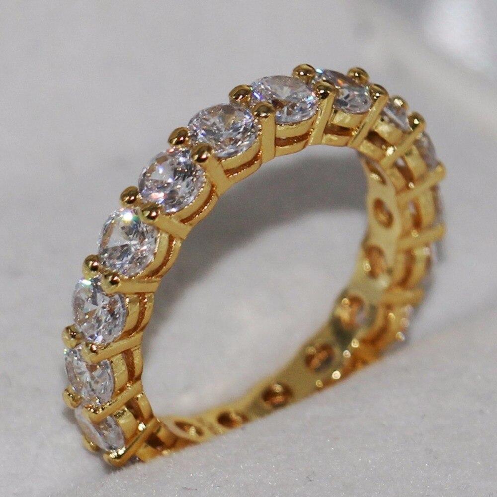 Livraison directe nouveauté marque de mode bijoux 10KT or rempli pile 5A zircone CZ fête femmes bague de mariage pour les amoureux