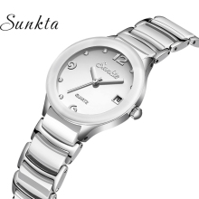 SUNKTA New Women Watch Top Luxury Fashion Watches Waterproof Casual Sport Brand Automatic Date Zegarek Damsk