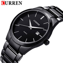 2016 nouveau mode Curren marque conception d'affaires calendrier hommes homme horloge casual en acier inoxydable de luxe poignet quartz montre cadeau 8106