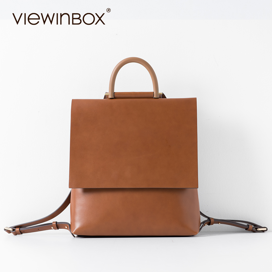 Viewinbox Designer Brand School Bags Leather Backpack High Quality Women Leather Backpacks Casual Backpack For Teenage Girls backpacks for teenage girls new casual women backpack high quality fashion travel school bags ladies brand designer bookbag