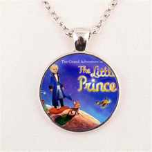 The Little Prince Necklaces Pendants The Little Prince Jewelry Gifts For Children Glass Dome Choker Necklace Women Men HZ1