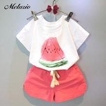 63de59f5d New Girls Clothing Sets 2019 Summer Casual Style Fashion Watermelon Print  Design Short Sleeve + Pants 2Pcs Kids Clothing Sets