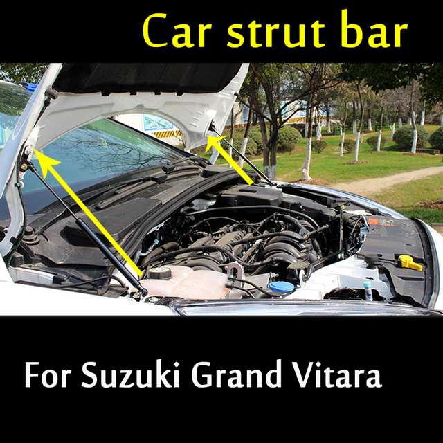 US $37 95 27% OFF|2 pcs For Suzuki Vitara Grand Vitara Car Front Hood  Engine Cover Supporting Hydraulic rod Lift Strut Spring Shock Bars  Bracket-in