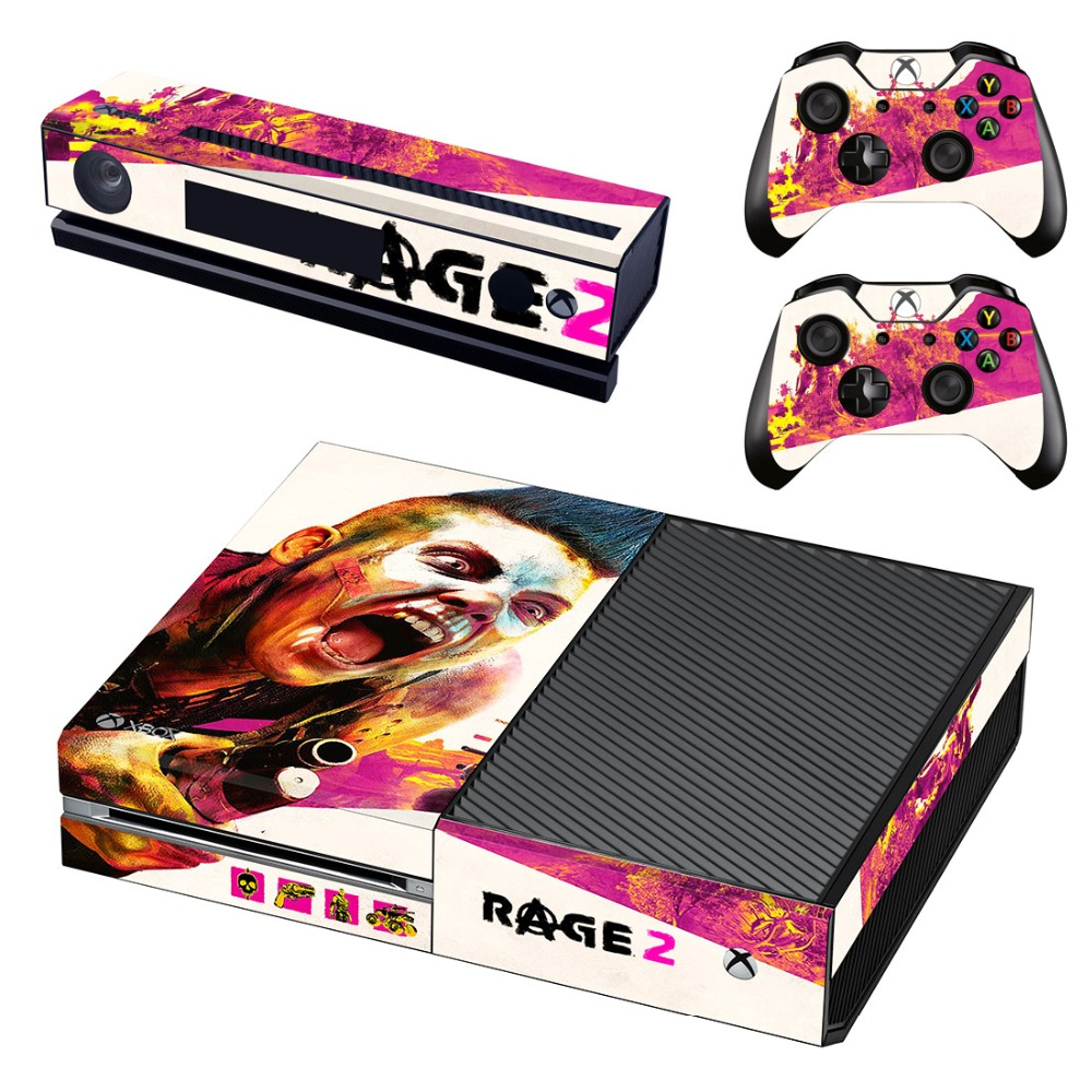 Skin Sticker Decal For Xbox One Console and Kinect and 2 Controllers For Xbox One Skin Sticker Vinyl - Game Rage 2