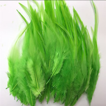 Wholesale natural beautiful 5-6 inches 200 feathers white feather dyeing fruit green bulk of DIY accessory earrings headdress,