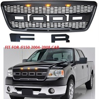 modified front F 150 Racing led grill grille ABS black front trim Replacement Grill Raptor fit for F150 2004 2008