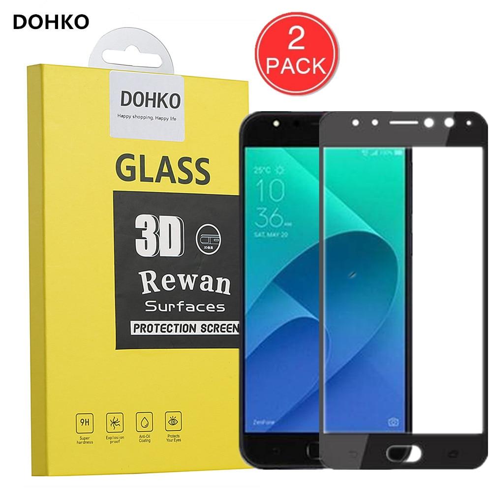 2 PACK DOHKO For Asus ZenFone 4 ZD553KL Screen Protector Protective Film For Asus ZenFone 4