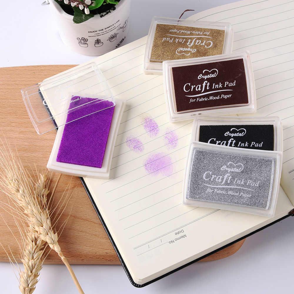 5 צבעים שמן מבוסס אצבע הדפסת נחמד מתנה לילדים חותמת שאינו רעיל שיפוע צבע כרית דיו כרית דיו גומי חותמת DIY אמנות