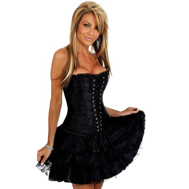 Corset Bustier Lace Evening Women Casual Dress