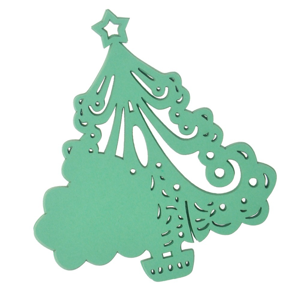 green christmas tree design table mark wine glass name cup place cards invitation card wedding christmas decoration party favors in cards invitations from