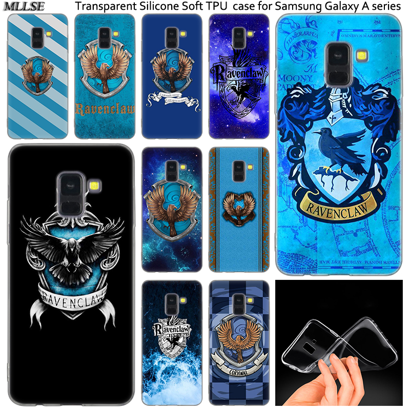 Harry Potter Ravenclaw School Crest Case For Samsung Galaxy A50 A30 A10 A40 A6 A8 Plus A9 Star A5 A7 2018 2017 2016 Note 9 8