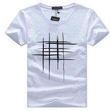 2019 t shirt  dos homens de Verão Manga Curta t-shirt Simples design criativo linha cruz Impressão algodão Marc...