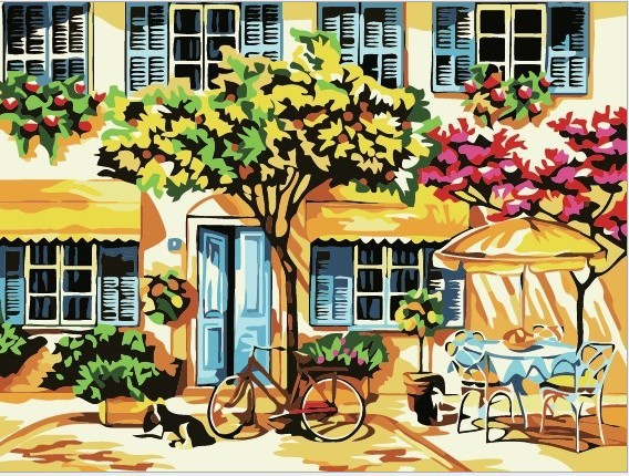 The Best Pictures DIY Digital Oil Painting Acrylic Paint By Numbers Unique Gift Home Decoration 30x40cm