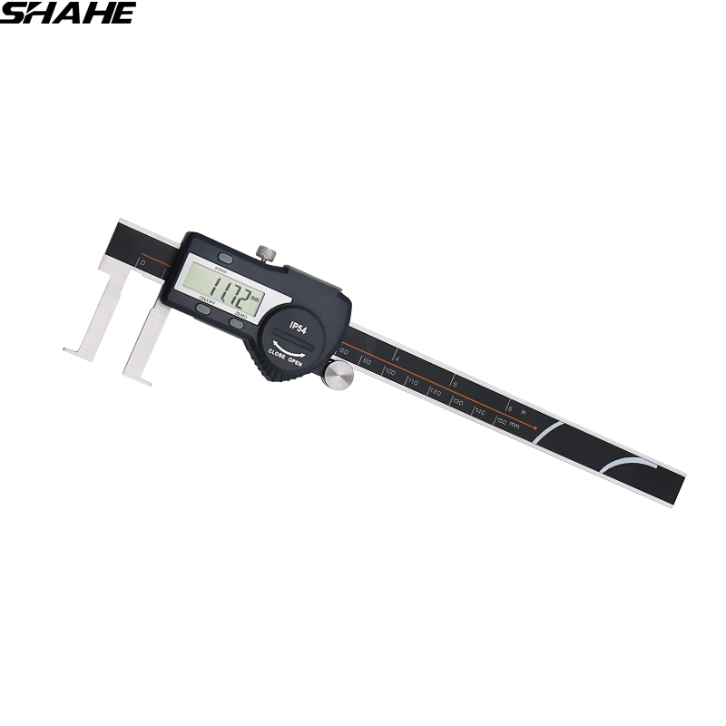22-150mm stainless steel electronic digital vernier caliper inside groove digital caliper with flat point calipers 150mm electronic digital caliper digital vernier caliper caliper free shipping 31080