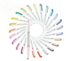 Zebra Mildliner 25 Pastel Kleur Set Double Ended Markeerstift & Creatieve Tool Kantoor & School Markers