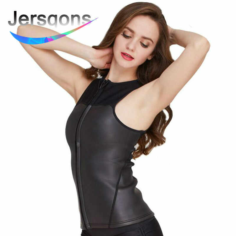 3c3945dca1d46 Detail Feedback Questions about Jersqons Women 2mm Neoprene Triathlon Suit  Sleeveless Wetsuit Top Swimsuit Diving Surfing Jacket Swimwear Spearfishing  Vest ...