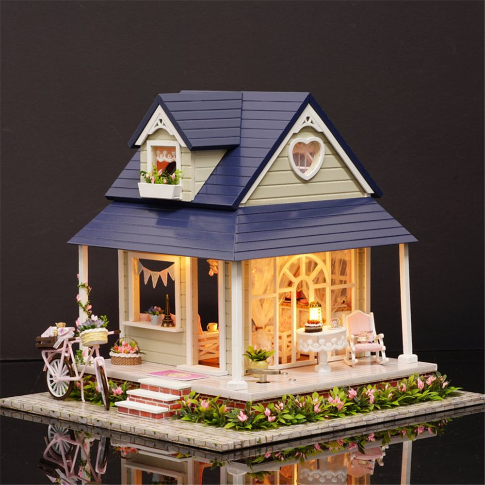 DIY 3D Doll House Miniature Handmade Wooden Bicycle Birthday Gifts Puzzles For Adults Lovers Children Gift