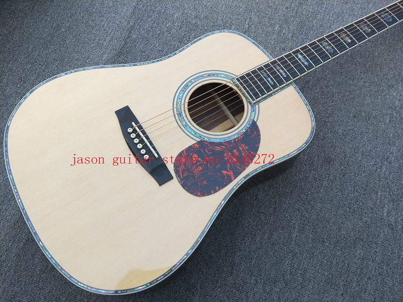 2019 New Factory customized 41 Inch full solid wood acoustic guitars Guitarra acustica full solid wood