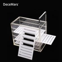 Falsche Wimpern Lagerung Box 5 Schichten Acryl Palette Lash Halter Für Wimpern Verlängerung Individuelle lash Volumen Display Ständer Werkzeuge
