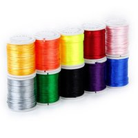 Hot 10 Rolls mixed cord in Nylon of colour beads chain of thread for the craft of jewelry 1 mm