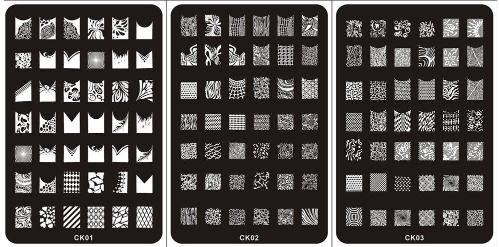 1Pcs Nail Stamping Plates Stamper Konad Nail Plate Stamp Lmage Plate ...