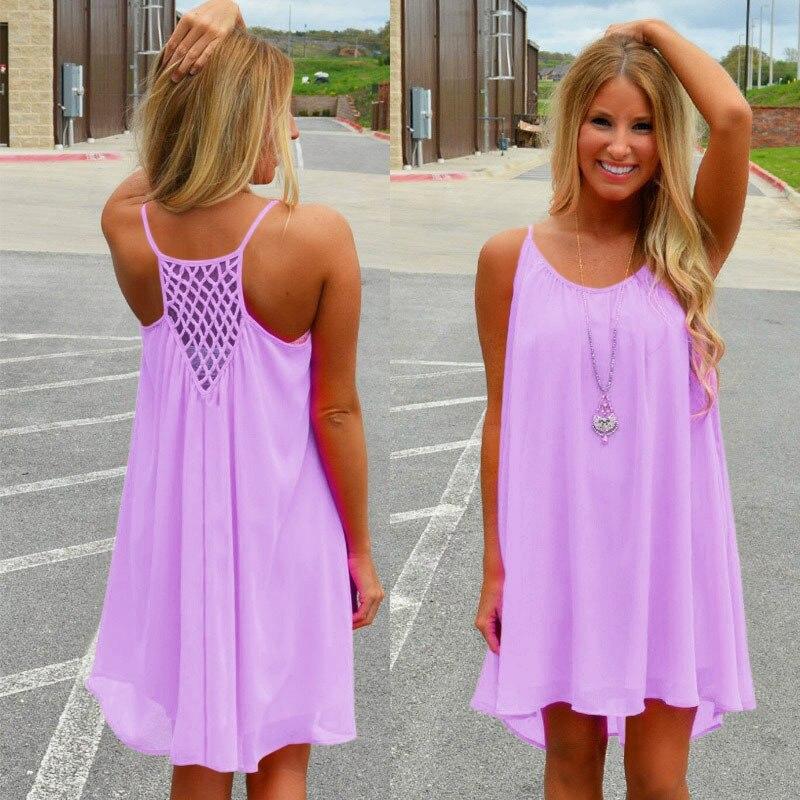 Women summer dress fluorescence chiffon women 2018 plus size clothing beach