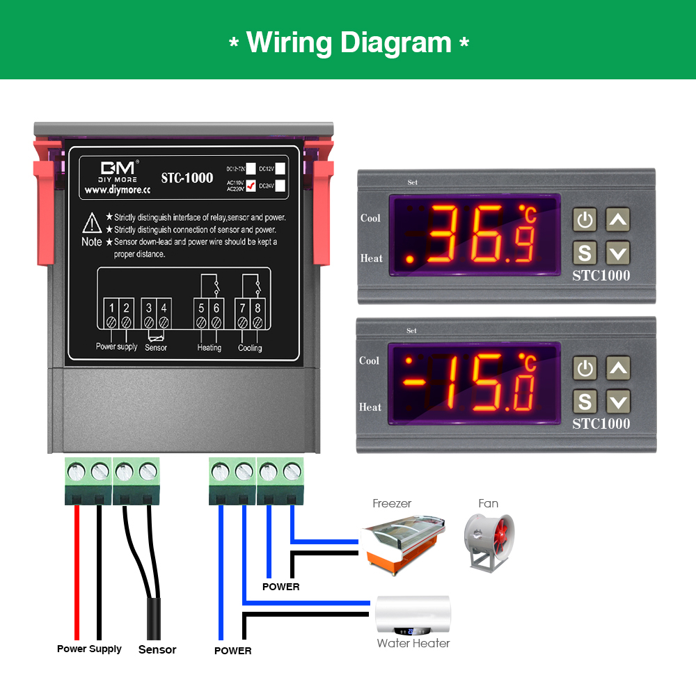 HTB1Uw2DMNjaK1RjSZFAq6zdLFXa7 STC-1000 STC 1000 LED Digital Thermostat for Incubator Temperature Controller Thermoregulator Relay Heating Cooling 12V 24V 220V