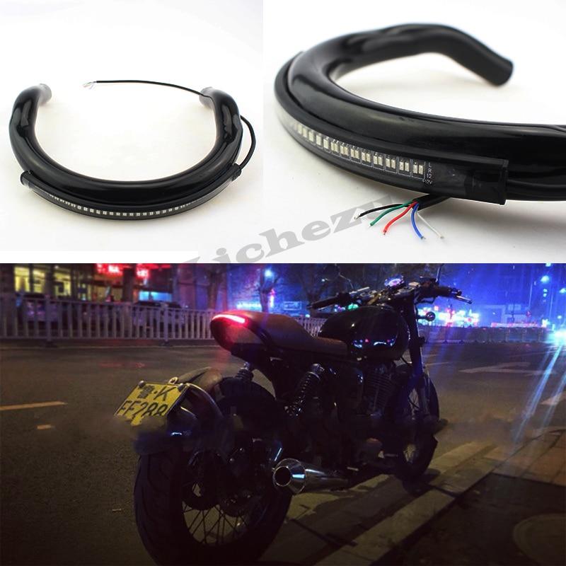 175mm Motorcycle Chrome Frame Hoop Tracker End Upswept Rear Seat Hoop Cafe Racer