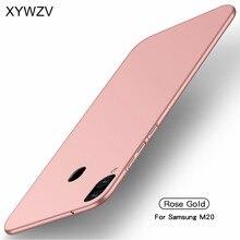 עבור סמסונג גלקסי M20 מקרה Silm יוקרה דק חלק קשיח מחשב מקרה טלפון עבור Samsung Galaxy M20 כיסוי עבור Samsung M20 Fundas