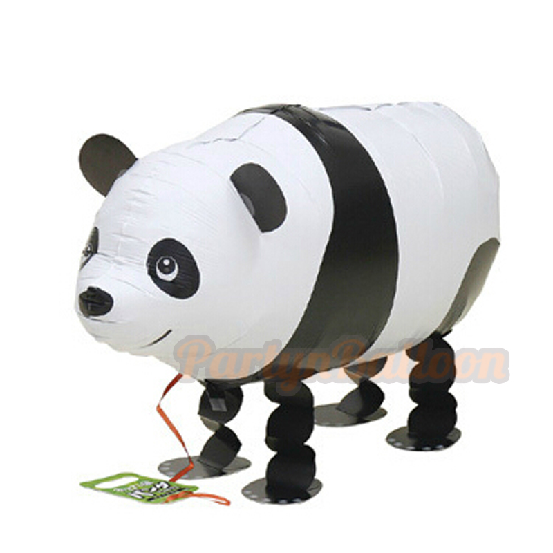 Panda Animal Balloons Foil Walking Pet Gifts for Baby Boy Girl Kid Toys Zoo Them