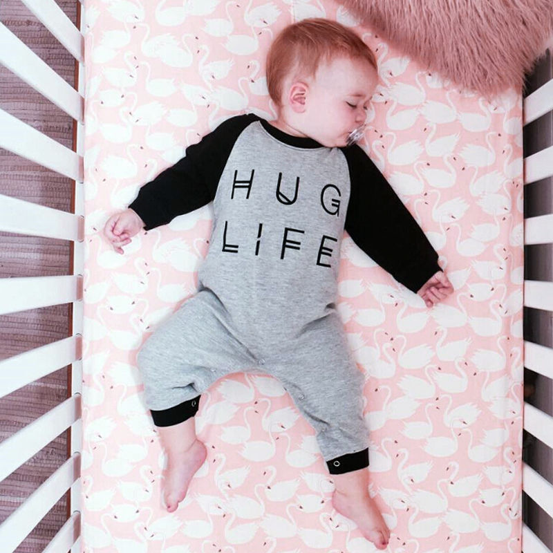 Hug Life Newborn Baby boys girls letter Rompers Infant Babies Boy Girl Cute Cotton Romper one-pieces Outfits Kids Clothing cute black jumpsuits outfits clothing baby kid boy girl wings newborn toddler child infant kids boys girls clothes romper 0 18m
