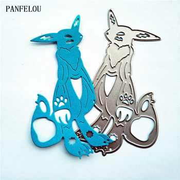 PANFELOU The fox warrior paper die cutting dies metal craft Scrapbooking/DIY Easter wedding Embossing mould cards image