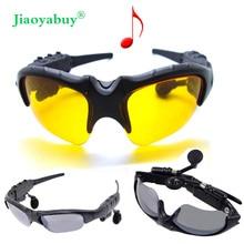 Jiaoyabuy Wireless Olahraga Stereo Bluetooth Kacamata Malam Kacamata  Headset Earphone Headphone + 2 pcs Malam Lensa Sunglass 122f05f3d5
