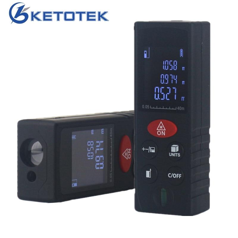 New Digital Laser Distance Meter 40 m 60 m 80 m 100 m Telemetro Laser Level Area Volume Misura Calibro distanziometro misura di nastro