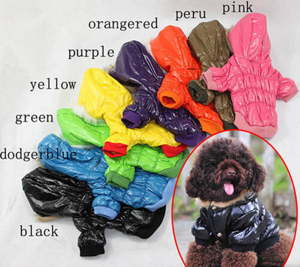 2015 new pet dog cat warm soft coats doggy autumn winter jackets puppy hoodies dogs cats sweatershirts pets clothes 1pcs