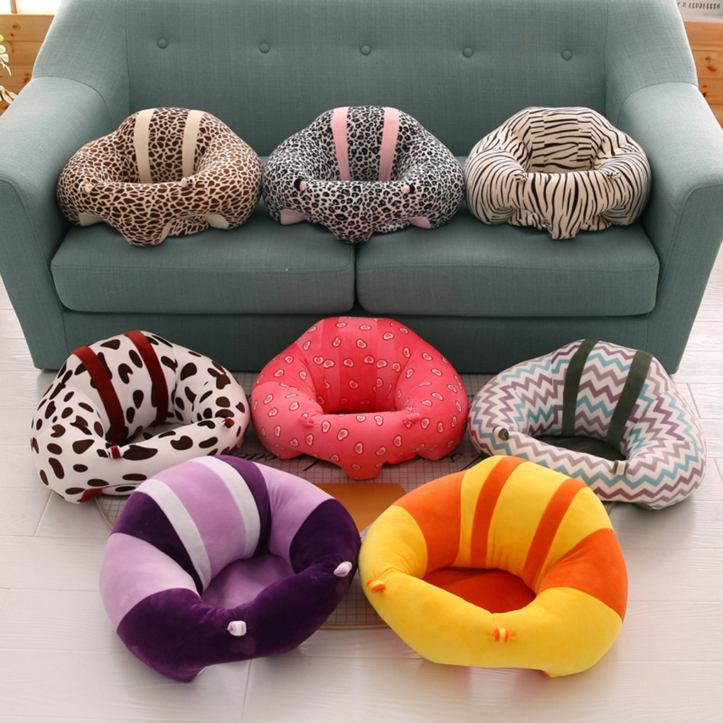 Colorful Baby Support Seat Plush Soft Cotton Baby Sofa Infant Learning To Sit Chair Safety Keep Sitting Feeding Chair