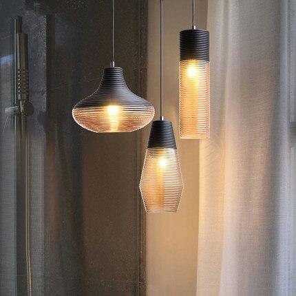 Nordic LED Pendant Lamps Vintage Pendant Lights Glass Hang Lamp Living Room Bedroom Loft Industrial Home Decor Kitchen Fixtures