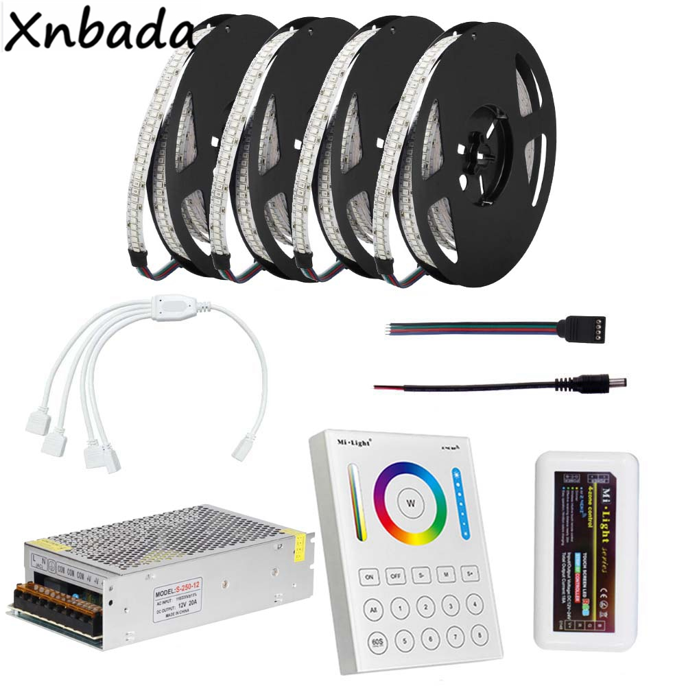DC12V 234Leds/m 2835SMD RGB Led Flexible Strip Light,Milight B8 Touch Panel RGB Led Controller Power Supply Kit 5M 10M 15M 20M good group diy kit led display include p8 smd3in1 30pcs led modules 1 pcs rgb led controller 4 pcs led power supply