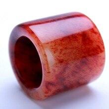 Натуральный нефрит Китай Природный гелиотроп zaopi красный банжи нефрит BanZhi нефритовое кольцо